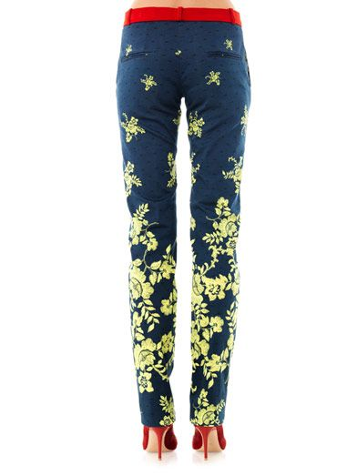 Preen Citrus flower-print trousers
