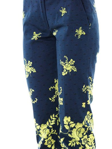 Preen by Thornton Bregazzi Citrus flower-print trousers