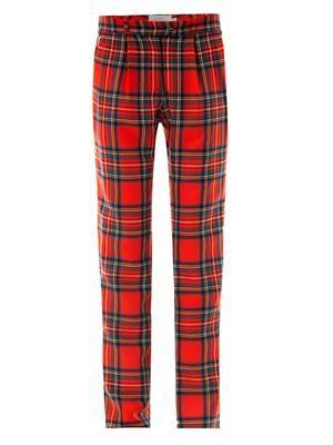 Bo tartan wool trousers