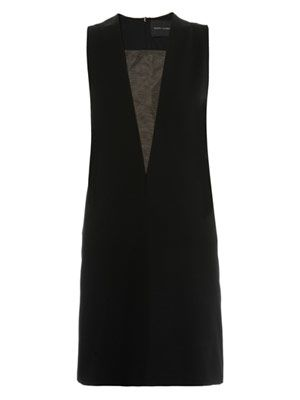 Mesh insert sleeveless dress