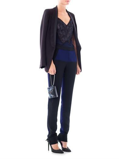 Pedro Lourenço Bi-colour skinny-leg trousers