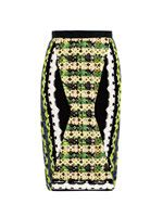 Geometric-print pencil skirt