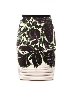 Erin canopy print pencil skirt