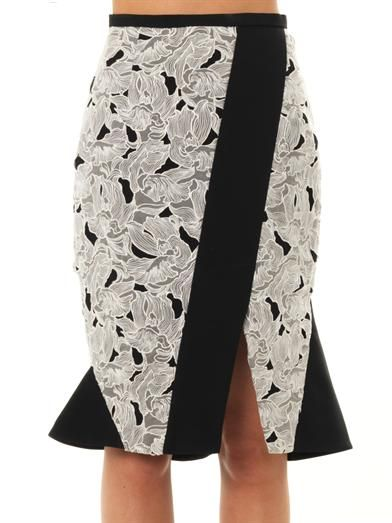 Peter Pilotto Jane embroidered skirt