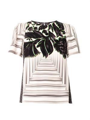 Dree canopy-print silk blouse