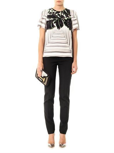 Peter Pilotto Dree canopy-print silk blouse