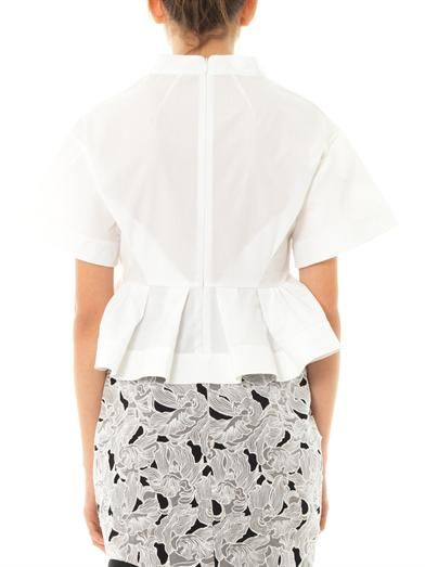 Peter Pilotto Jackie leaf embroidered blouse
