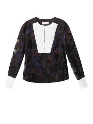 Mia orchid embroidered blouse