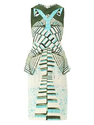 LN digital-print crepe-jersey dress