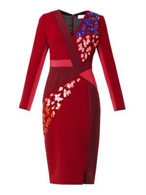Aro embellished twist-front dress