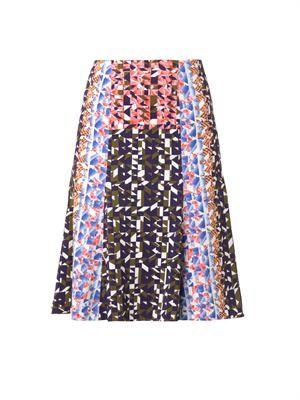 Olivia Geo-print A-line skirt
