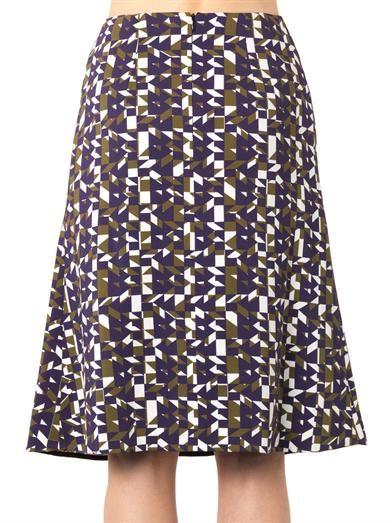 Peter Pilotto Olivia Geo-print A-line skirt