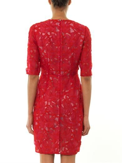 Peter Pilotto T-lace orchid-embroidered dress
