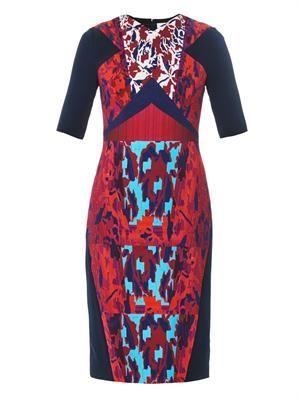 Hayden Water Orchid-print dress