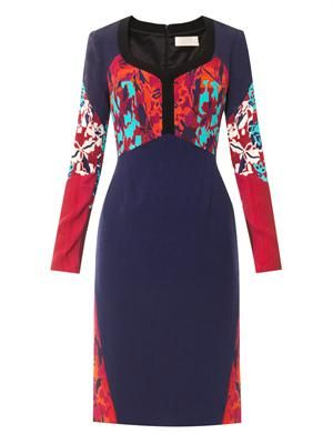 Camille Water-orchid print dress
