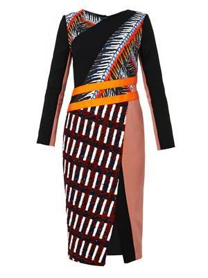 Etch multi-panel dress