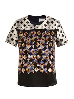 Tilda embellished printed blouse