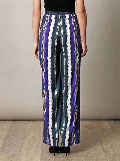 Peter Pilotto Damask print silk trousers