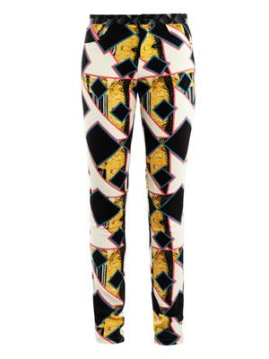Eli shard diamond print trousers