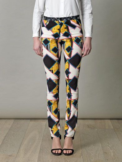 Peter Pilotto Eli shard diamond print trousers
