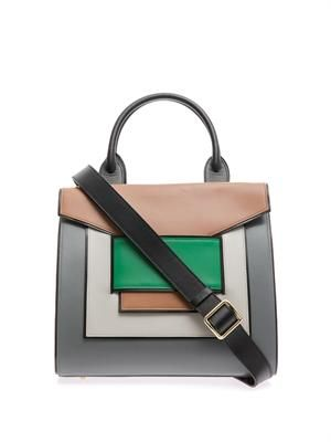 Colour-block multi-panel tote
