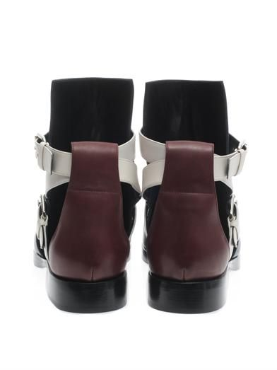 Pierre Hardy Tri-colour slashed boots