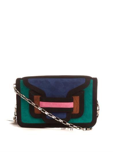 Pierre Hardy Suede colour-block clutch