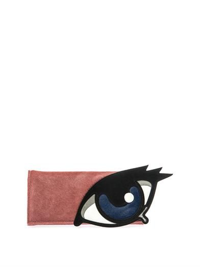 Pierre Hardy Calf-hair and suede clutch