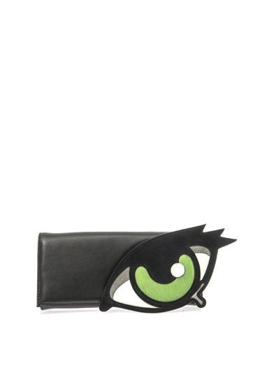Pierre Hardy Leather and suede clutch