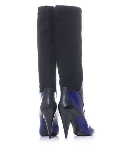 Pierre Hardy Sculptural leather and suede boots