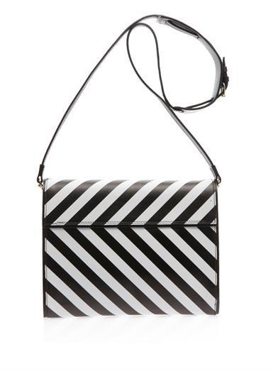 Pierre Hardy Striped leather cross-body bag