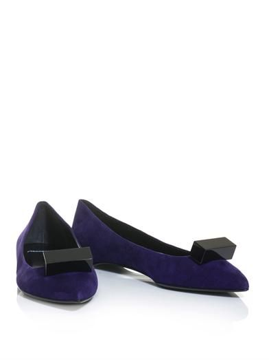 Pierre Hardy Cube embellished point-toe suede flats