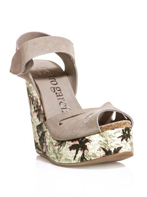Alice printed wedge sandals