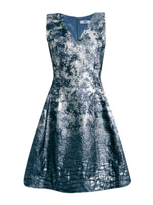 Degradé jacquard fitted dress