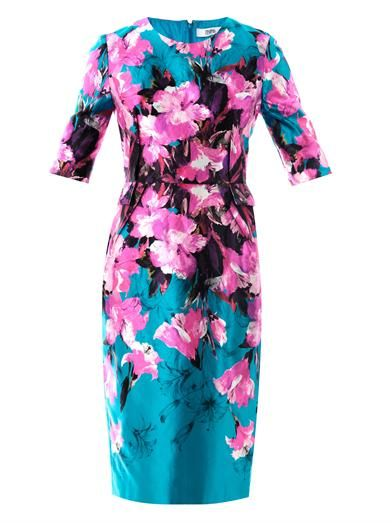 Prabal Gurung Painterly lily-print sheath dress