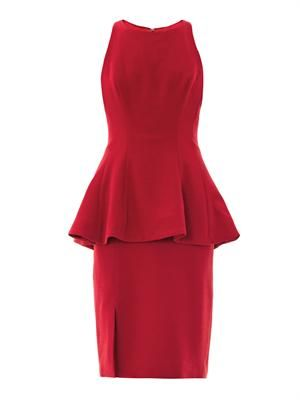 Peplum crepe dress