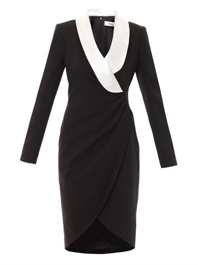 Prabal Gurung Contrast lapel fitted dress