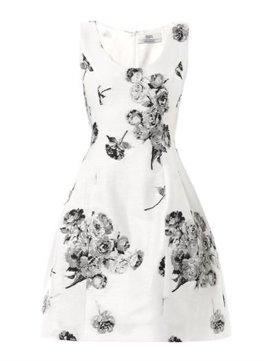 Prabal Gurung Floral jacquard full-skirt dress