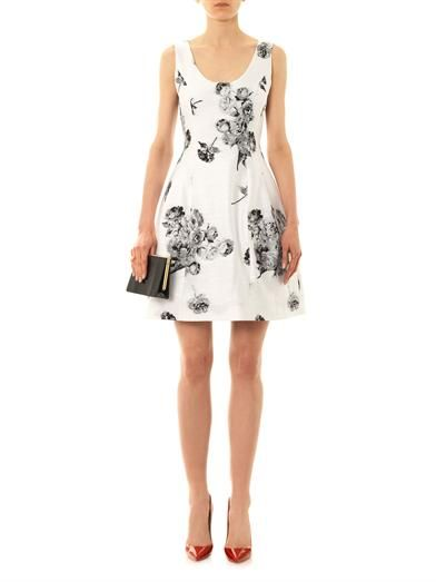 Prabal Gurung Floral jacquard full-skirt dress