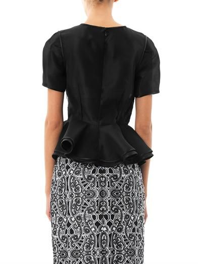 Prabal Gurung Window pane organza blouse