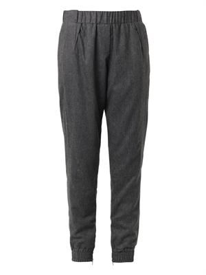 Flannel track pants
