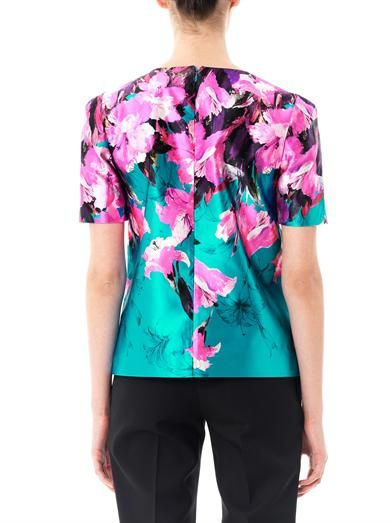 Prabal Gurung Painted lily-print blouse