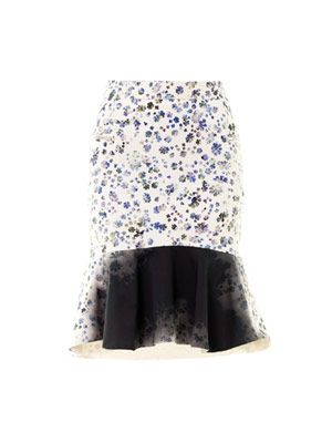 Morgan floral-print skirt