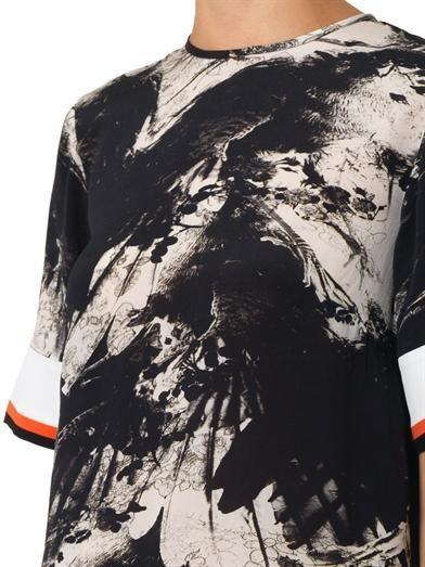 Preen by Thornton Bregazzi Bria blackbird-print silk dress