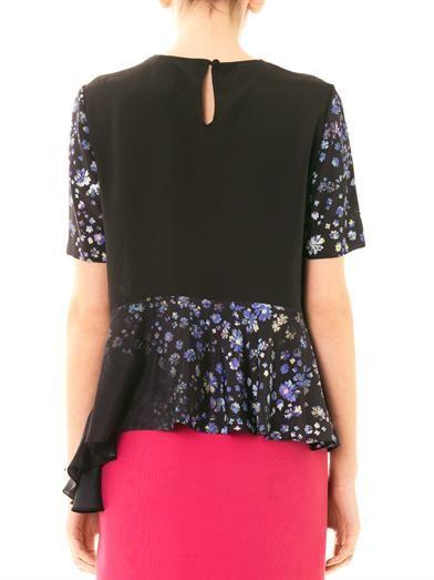 Preen by Thornton Bregazzi Wylie forget-me-not print peplum blouse
