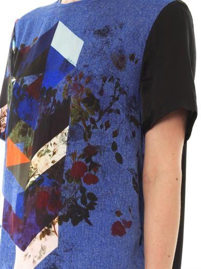 Preen by Thornton Bregazzi Hedvig flower tile-print top