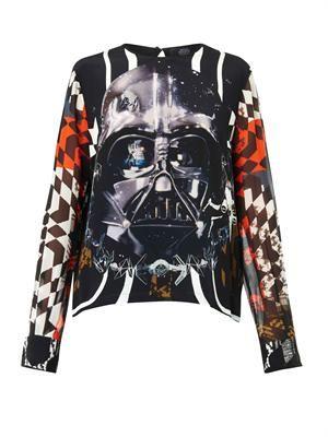 Padme Darth Vader-print top