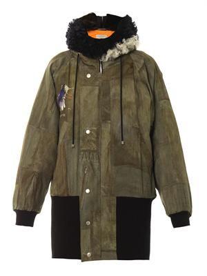 Baxter fur-trimmed bomber jacket