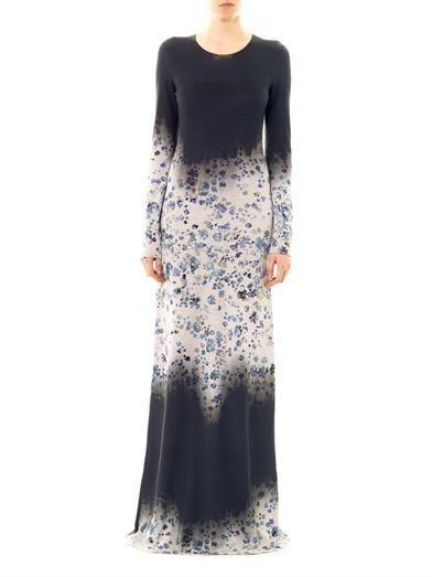 Preen by Thornton Bregazzi Fade dégradé floral-print dress
