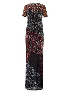 Elli forget-me-not print maxi dress